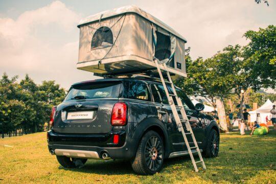 gray tent on black SUV